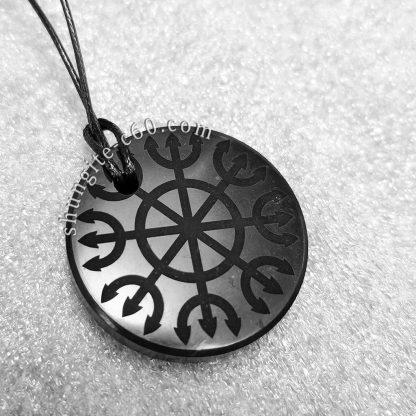 shungite meditation pendant Ashtanga Yantra from russia
