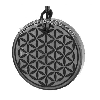 shungite pendants set flower of life