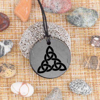 shungite triquetra necklace engraved type 9