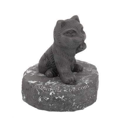 shungite Beckoning Cat figure
