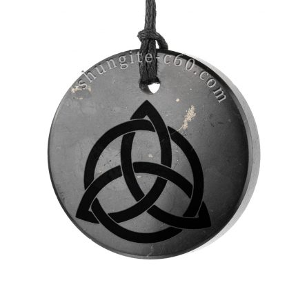 shungite triquetra cross necklace