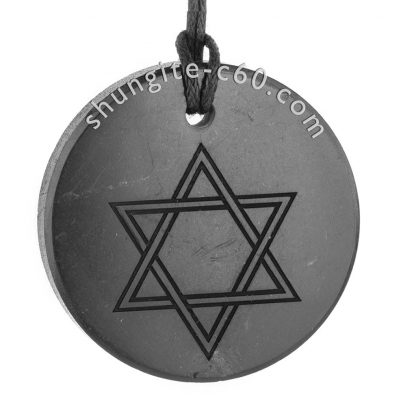shungite pendants engraved star of david