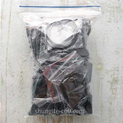 shungite triangle pendants
