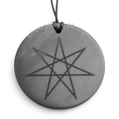 shungite seven point star necklace