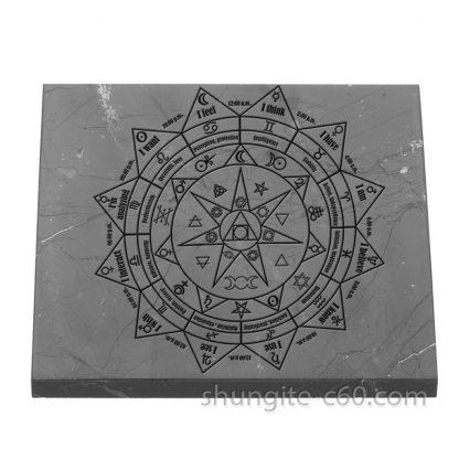 shungite pentacle tile square 10 cm
