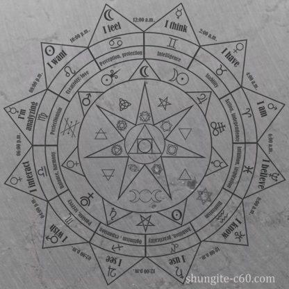 shungite pentacle altar