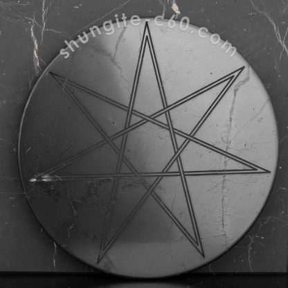 seven pointed star shungite plate