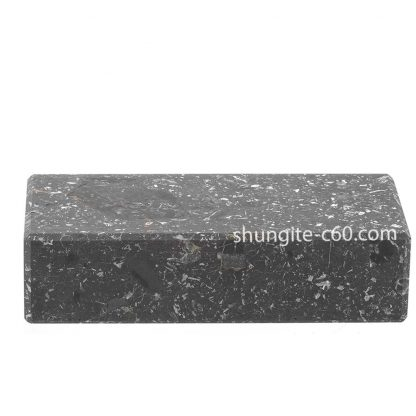shungite brick made of real shungite rock