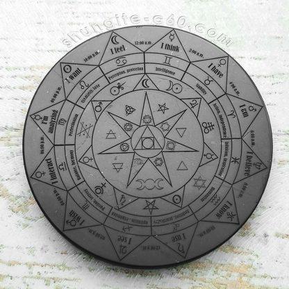 shungite pentacle altar plate