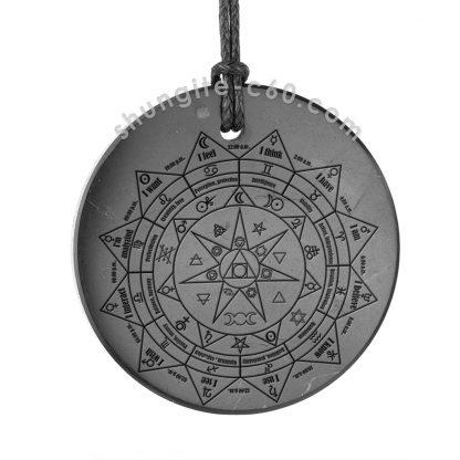 Magical shungite pendant pentacle