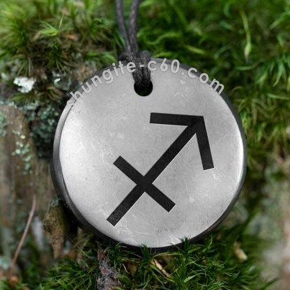 shungite pendant sagittarius