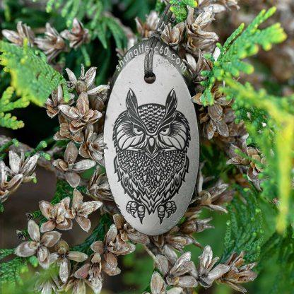 shungite pendant night owl from russia