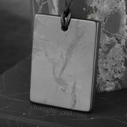 shungite pendant rectangle