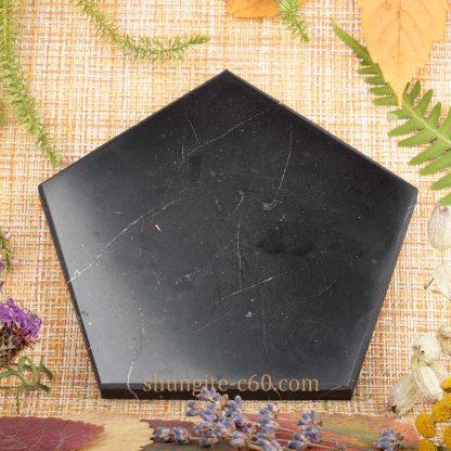 shungite pentagon made of rare stone