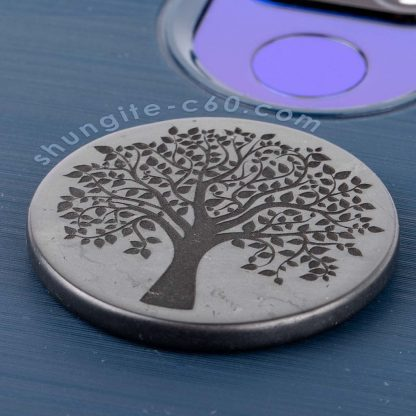 shungite phone shield plate Tree of Life engraved