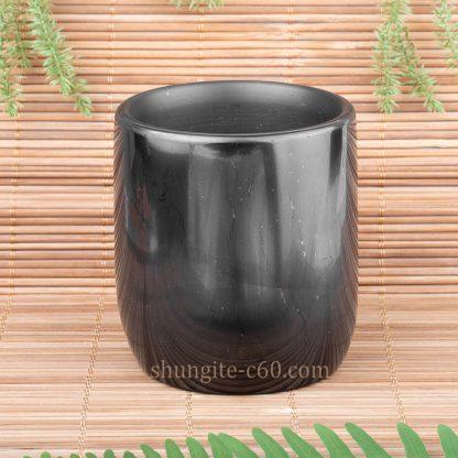 shungite glassful made of natural stone
