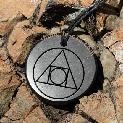 shungite philosopher's stone necklace