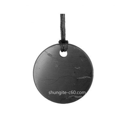 shungite stone pendant circle