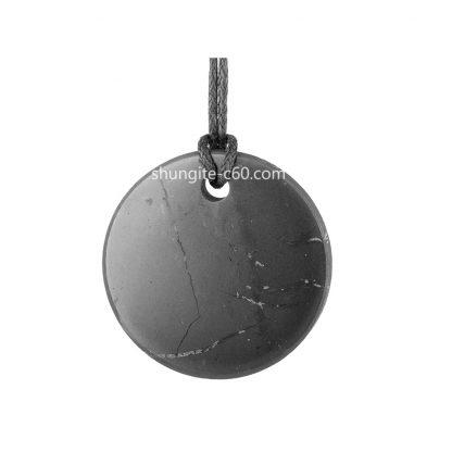natural shungite rock necklace
