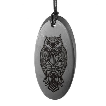 shungite pendant owl from russia