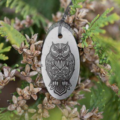 shungite pendant owl from karelia