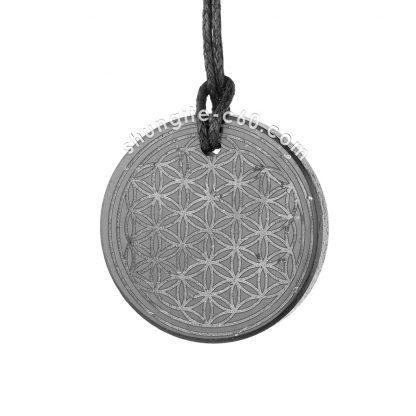 shungite white engraving necklace from karelia