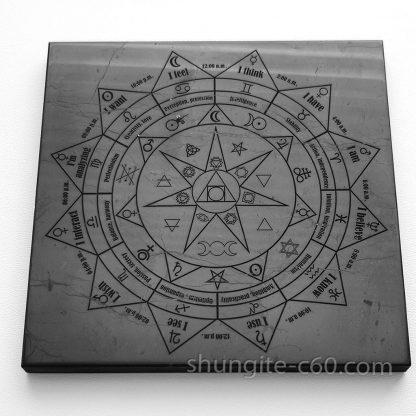 shungite pentacle plate altar