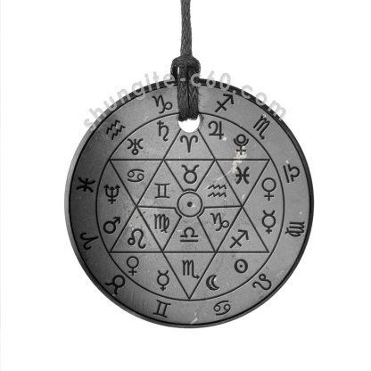 shungite necklace zodiac circle