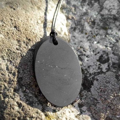 shungite pendant oval from russia