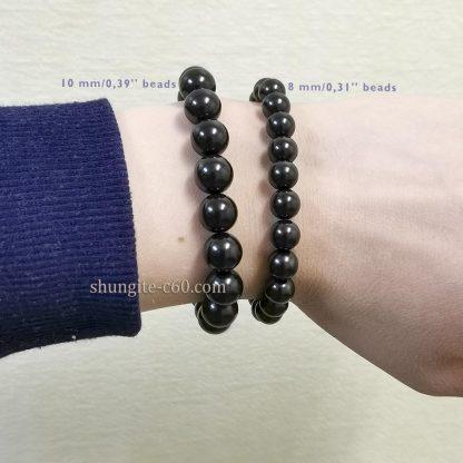 genuine shungite bracelet 8 mm and 10 mm