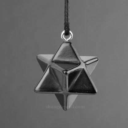 merkaba pendant made of shungite