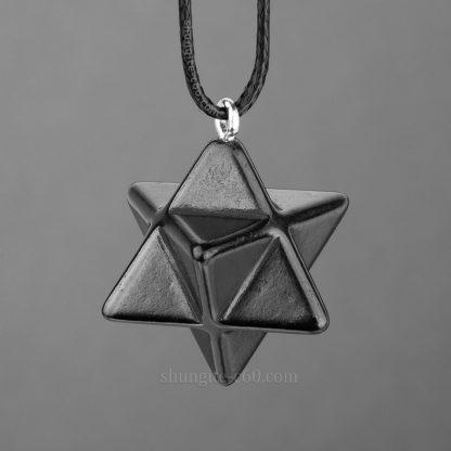 shungite merkaba pendant