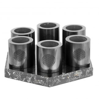 shungite water cup set of 6 pieces