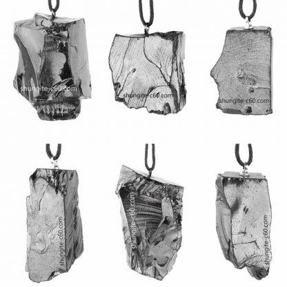 silver shungite pendant from Russia
