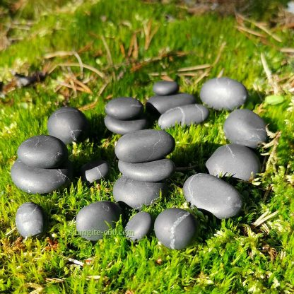 black shungite crystal stones from Russia