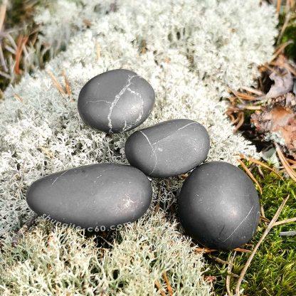 big black karelian rocks